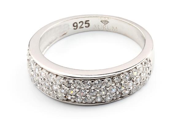 Partnerringe silber mit stein  Silber Ring mit weißen Zirkonia Steinen - AJRZ-002