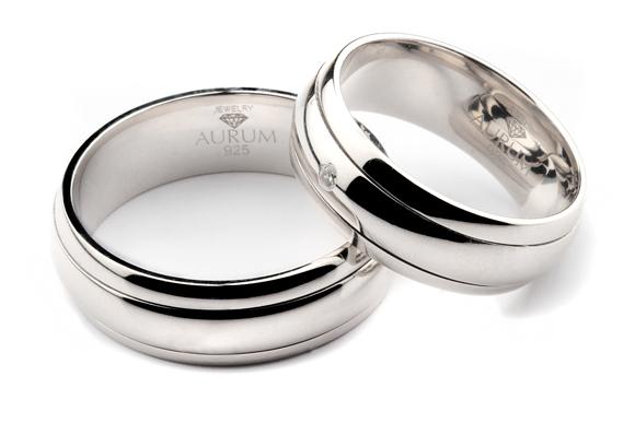 Partnerringe silber  Silber Trauringe: Partnerringe Eheringe m. Zirkonia
