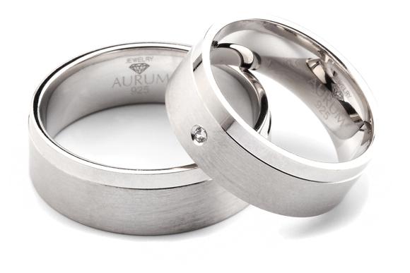 925 Sterling Silber Trauringe: Partnerringe - Eheringe mit ...