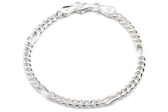 c111671d04c2 925 Silberarmband  Figaroarmband Silber 4mm 19cm