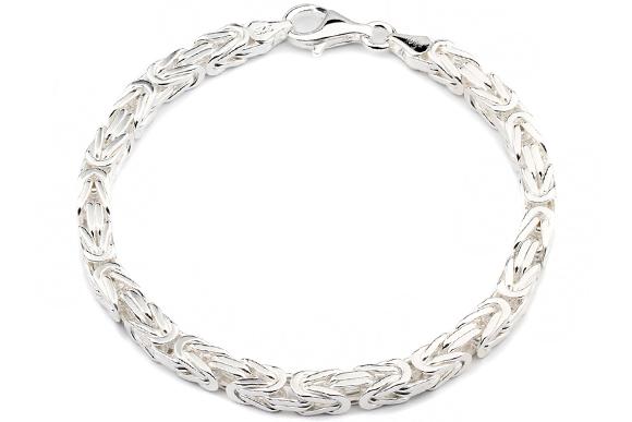 Silber armband  Silberarmband: Königsarmband Silber 5mm 20cm - KA
