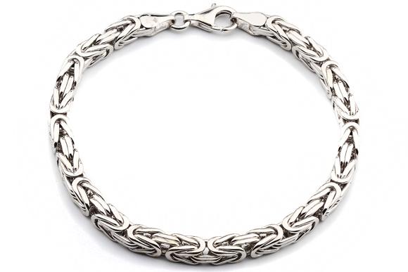 Silberarmband  Silberarmband: Königsarmband Silber 5mm 20cm - KARH