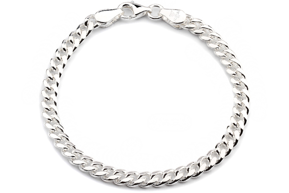 Silberarmband  Silberarmband: Panzerarmband Silber 5mm 21cm