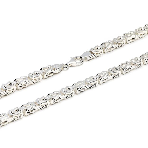 Königskette Silber 7 mm und 60 cm - 70 cm