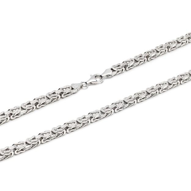 Königskette Silber 5 mm und 55 cm - 65 cm - rhodiniert