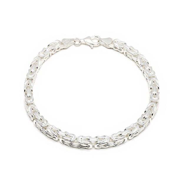Königsarmband Silber 5 mm und 20 cm - 22 cm