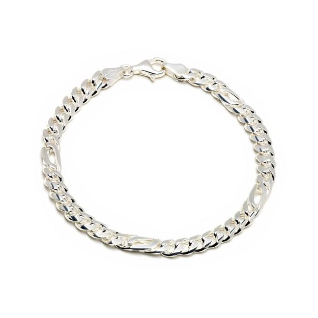 Pfauenaugearmband Silber 6 mm und 20 cm - 22 cm