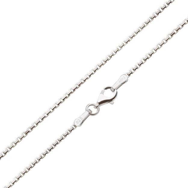 Feine Veneziakette Silber 1,8 mm und 40 cm - 70 cm