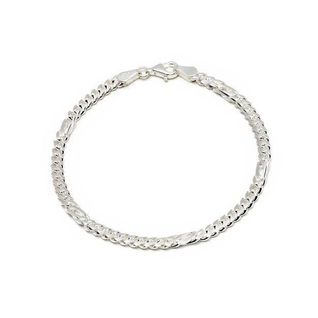 Pfauenaugearmband Silber 4 mm und 19 cm - 21 cm
