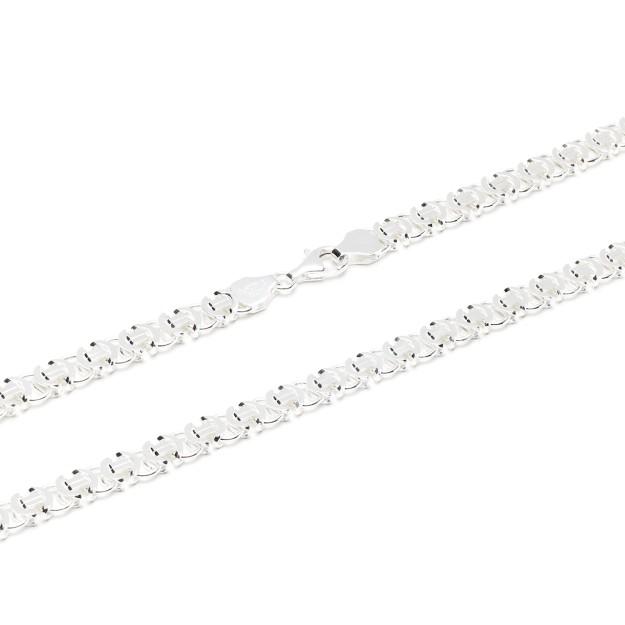 Königskette flach Silber 7 mm und 50 cm - 60 cm