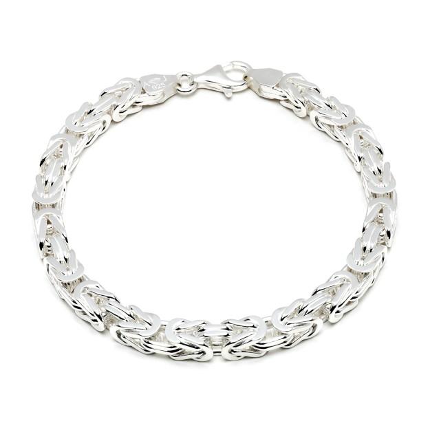 Königsarmband Silber 7 mm und 21 cm - 23 cm