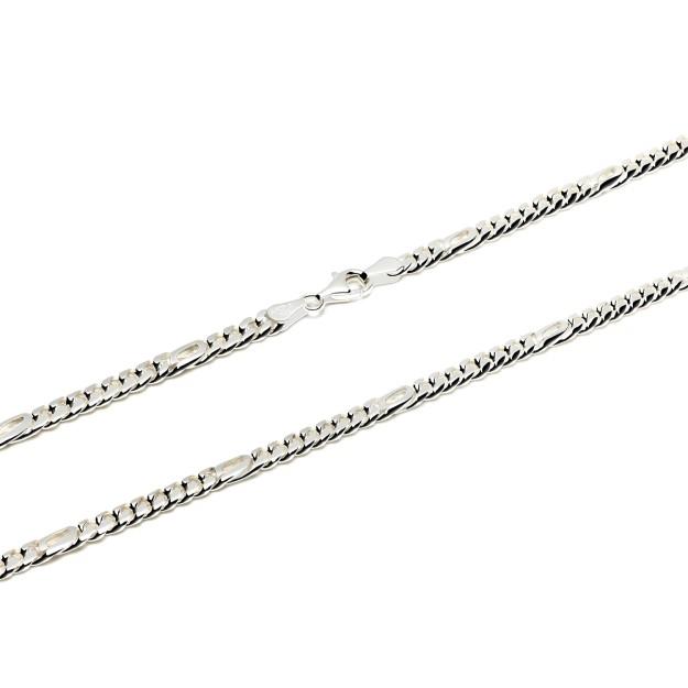 Pfauenaugekette Silber 5 mm und 50 cm - 60 cm