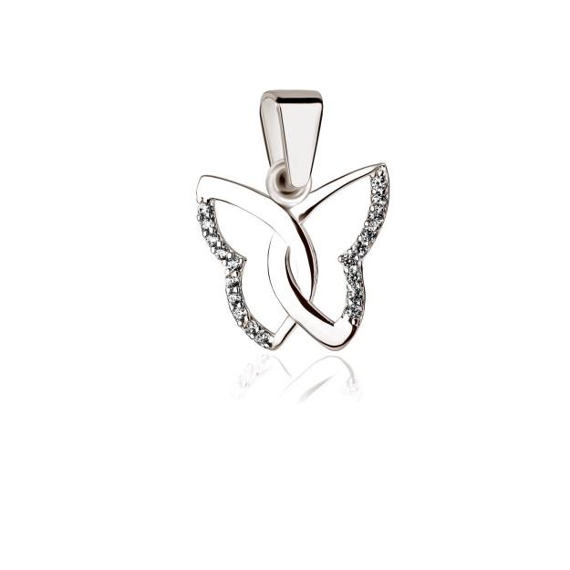 Silber Anhänger - Schmetterling mit Zirkoniasteinen