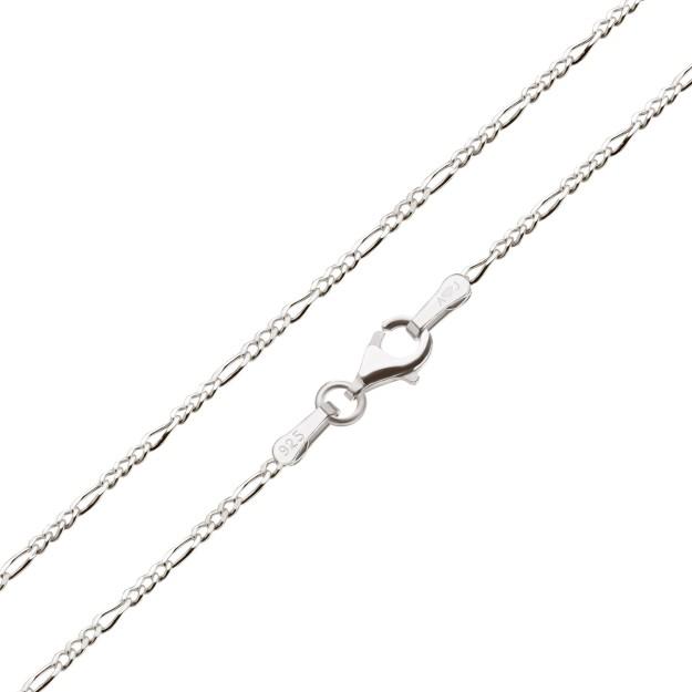 Feine Figarokette Silber 1,8 mm und 40 cm - 50 cm