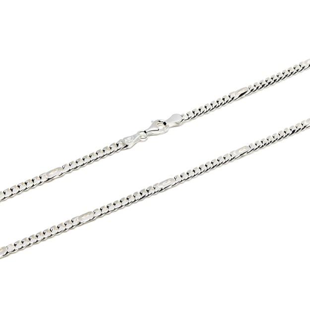 Pfauenaugekette Silber 4 mm und 50 cm - 60 cm