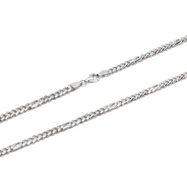 Pfauenaugekette Silber 5 mm und 50 cm - 60 cm - rhodiniert