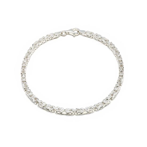 Königsarmband Silber 3,5 mm und 19 cm - 21 cm
