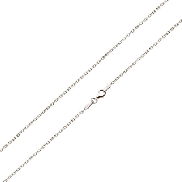 Feine Ankerkette Silber 1,3 mm und 40 cm - 50 cm - rhodiniert
