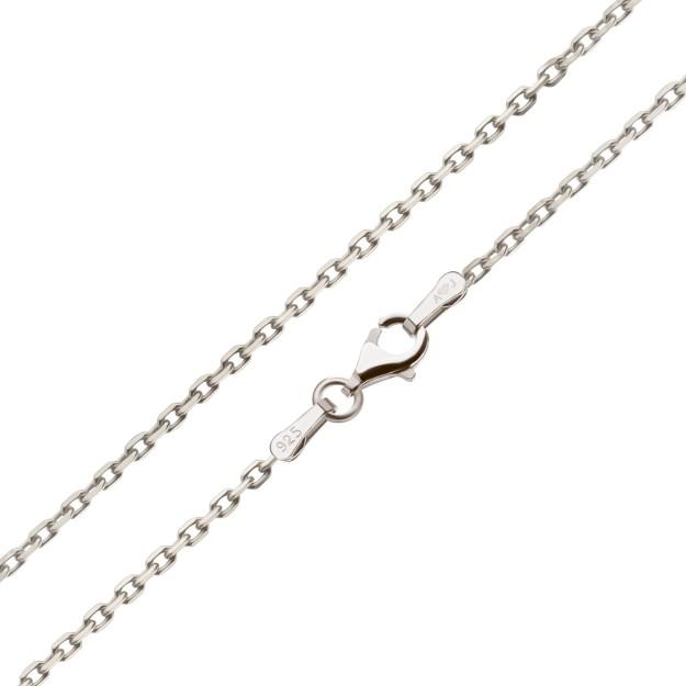 Feine Ankerkette Silber 2,0 mm und 40 cm - 70 cm - rhodiniert