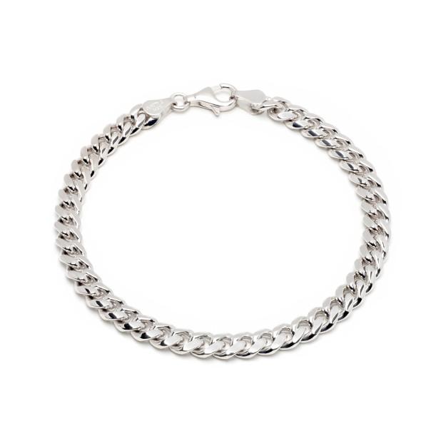 Doppelpanzerarmband 6mm 925er Silber Rhodiniert Gestempelt Armkette Herren Damen
