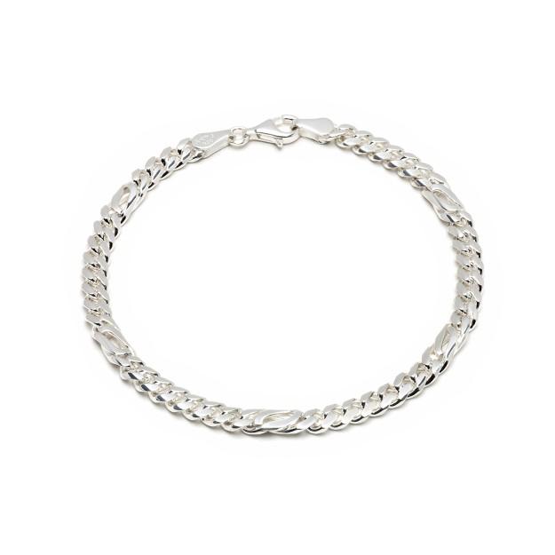 Pfauenaugearmband Silber 5 mm und 19 cm - 21 cm