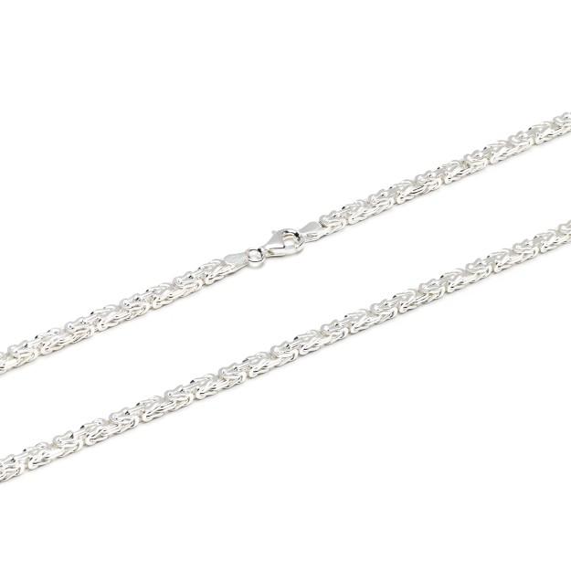 Königskette Silber 3,5 mm und 50 cm - 65 cm