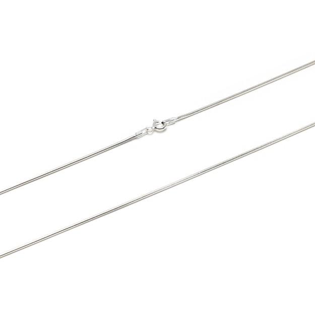 Schlangenkette Silber 1,6 mm und 42 cm - 50 cm