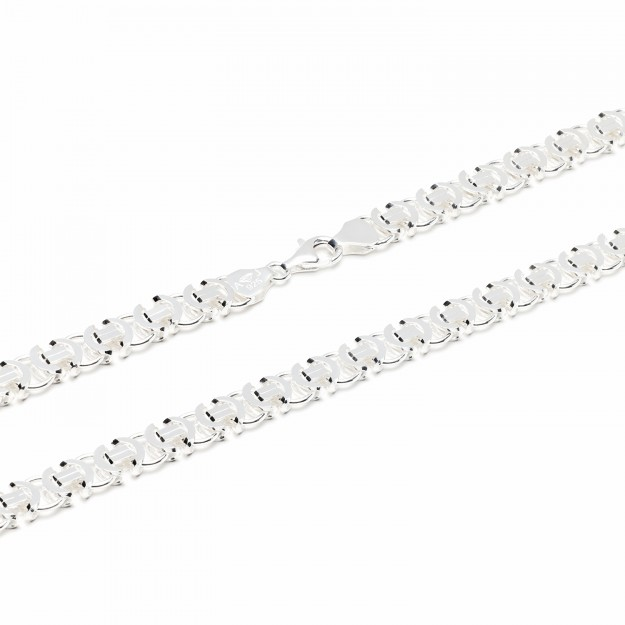 Königskette flach Silber 8,5 mm und 55 cm - 65 cm