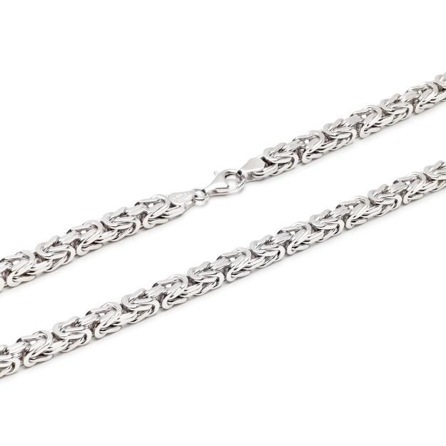Königskette Silber 6 mm und 55 cm - 65 cm - rhodiniert