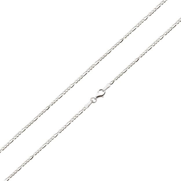 Feine Figarokette Silber 1,3 mm und 40 cm - 50 cm