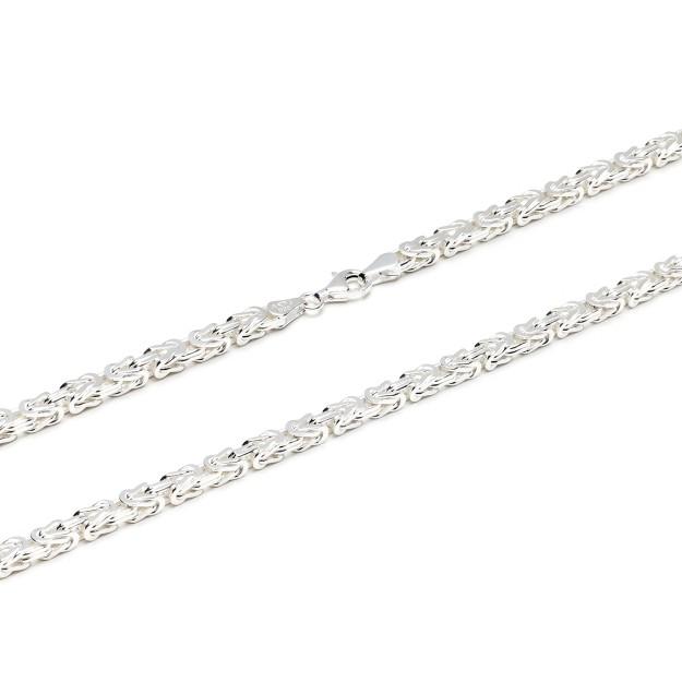 Königskette Silber 4 mm und 55 cm - 65 cm